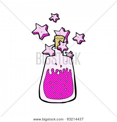 retro comic book style cartoon magic potion