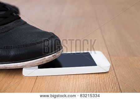 Foot On Cellphone