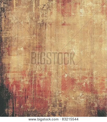Old abstract grunge background, aged retro texture. With different color patterns: yellow (beige); brown; pink; black