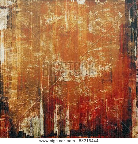 Old-style background, aging texture. With different color patterns: yellow (beige); brown; red (orange); black