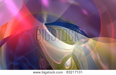 3D illustration of abstract colored