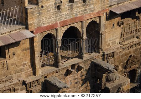 Chand Baori Stepwell In The Village Of Abhaneri