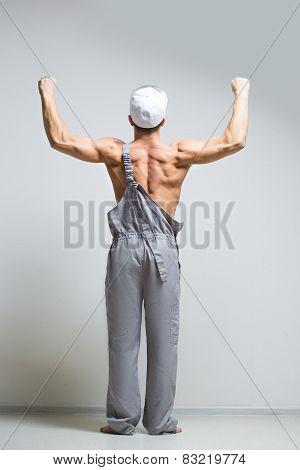muscular man back