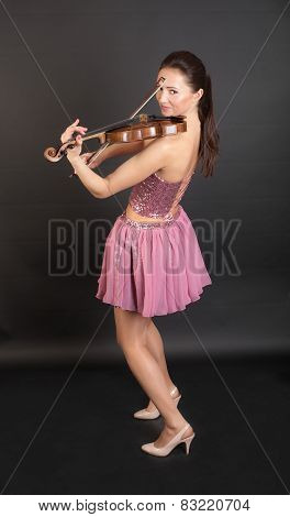 Cheerful Violinist