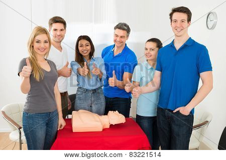 Group Of People In Resuscitation Training
