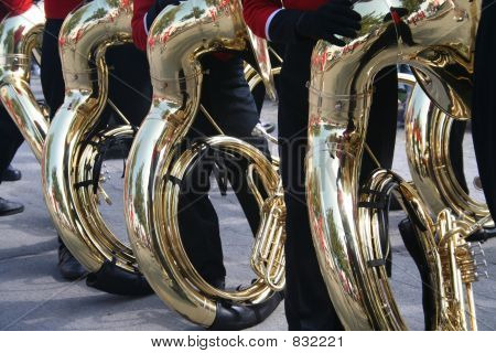 tubas on parade