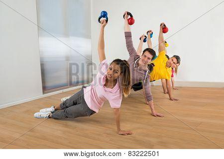 Multiethnic Friends Exercising