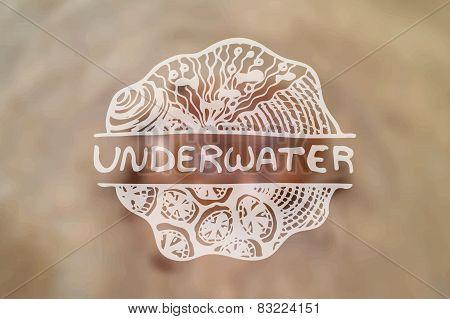 Detailed hand drawn zentangle emement on blurred backgroound