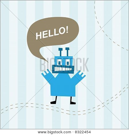 Cute monster  greeting card