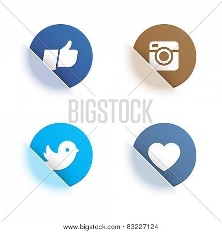 Vector set of social network icons with nice translucent effect.