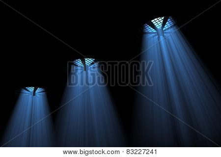 Fans With Volumetric Light