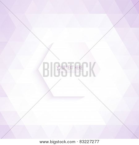 Geometric Seamless pattern triangle background for your design and your text
