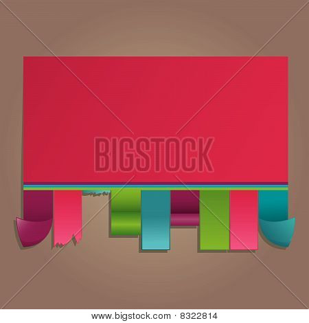 Colorful announcement. vector illustration