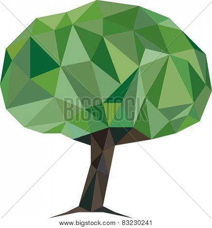 Vector Illustration of Low Poly Tree