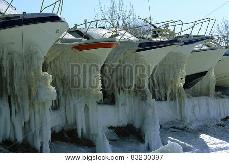 boats in winter Park