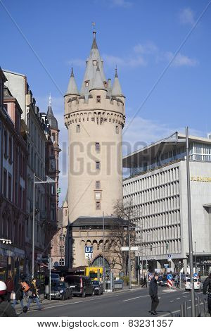 Eschenheim Tower in Frankfurt am Main, Germany