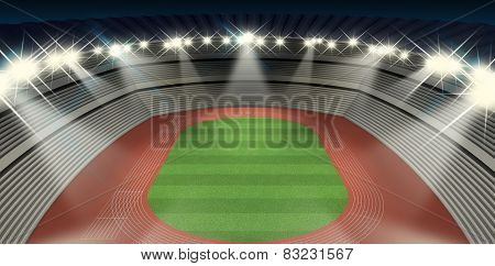 Athletics Stadium Night