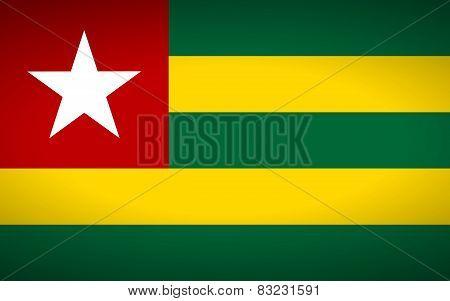Flag Of Togo.