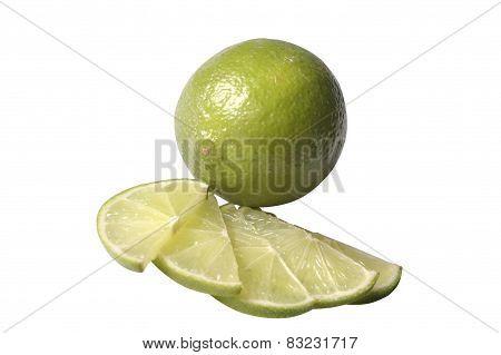 Citrus Fruit And Cut Pieces
