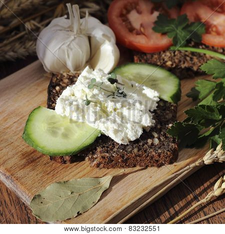 Cottage Cheese Sandwich