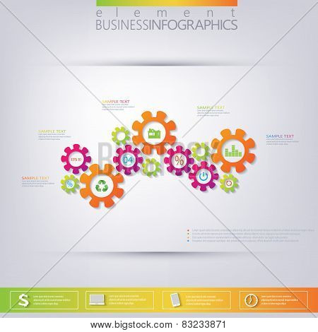 Modern 3D template infographic . Can be used for workflow layout, diagram, chart, number options, we