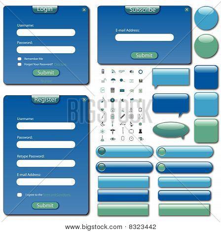 Web Template Blue Green