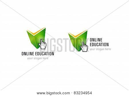 Online Education hand book check logo
