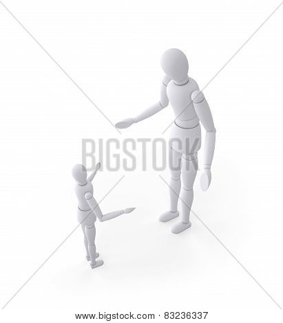 Father And Son Expressing Argument And Discipline