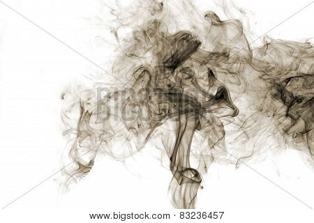 Gray Smoke On White  Background