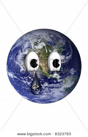 Earth With A Teardrop
