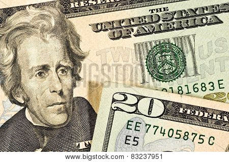 Twenty Dollar Bill Details