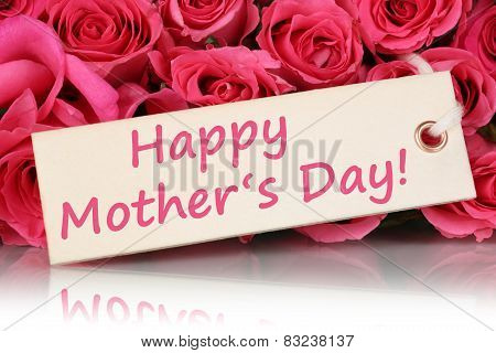 Happy Mother's Day With Roses Flowers
