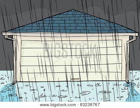 Rain Storm And Garage