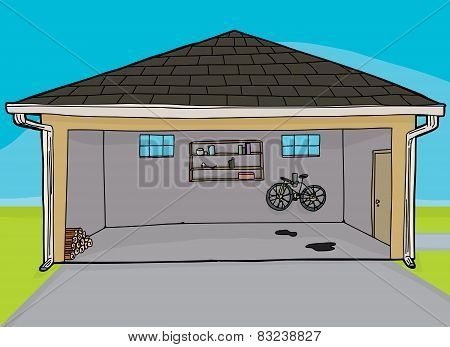 Open Residential Garage