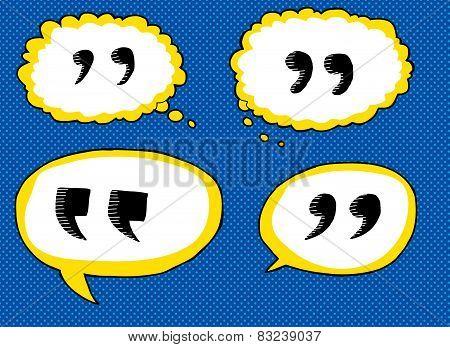 Quote Dialog Bubbles