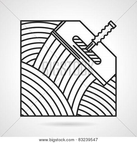 Black line vector icon for spatula