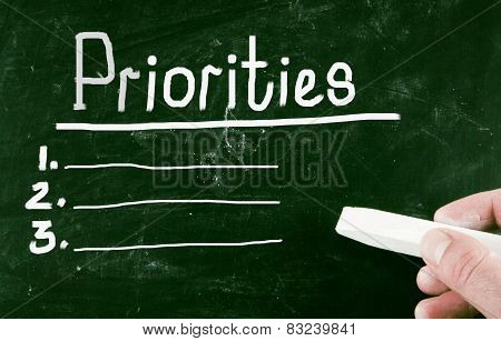 Priorities Concept