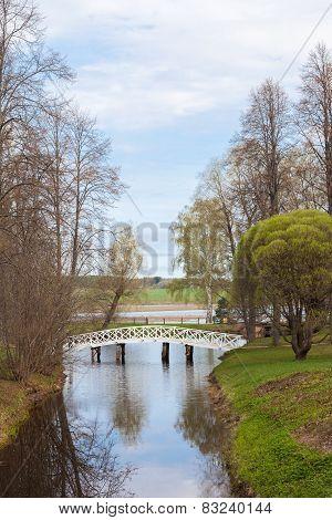 Spring Landscape With A Bridge