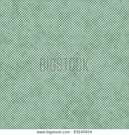Green Small Polka Dot Pattern Repeat Background