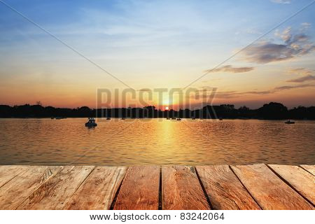 Wood With Sunset