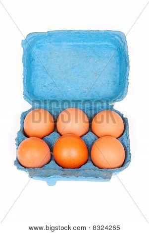 Ovos na caixa azul