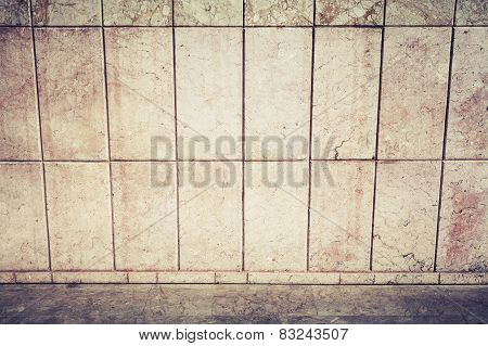 Abstract Urban Background Interior With Stone Tiling