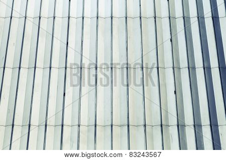 Shining Blue And White Metal Wall Surface, Retro Texture