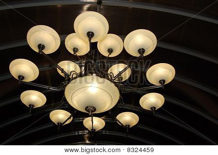 Close-up Of Modern Classics Chandelier.