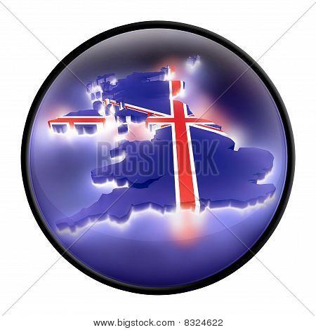 United Kingdom (UK) sign (symbol) with light