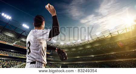 Professional baseball player in action