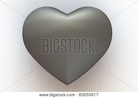Matte Metal Heart