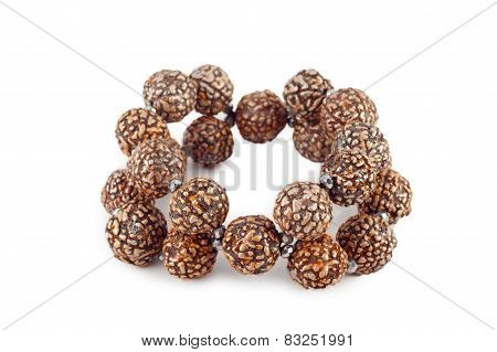 Brown Wooden Beads Bracelet