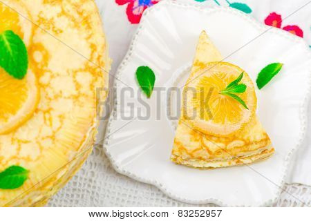 Blinis Pie With The Lemon Curd.