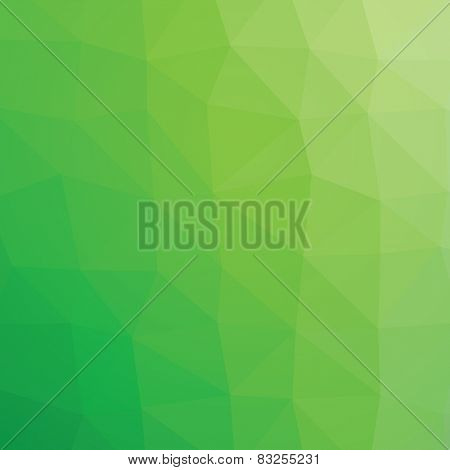 Geometric abstract light green grass low-poly paper background.